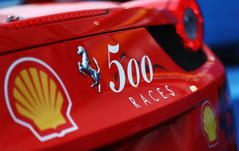 Shell 500 races logo on rear wing F2012